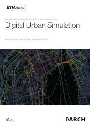 Digital Urban Simulation : Documentation of the Teaching Results from the Autumn Semester 2015