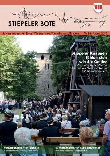 Stiepeler Bote 254 – August 2017