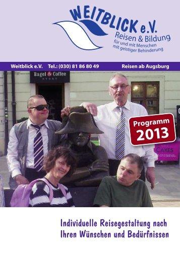 Programm 2013 - Weitblick eV