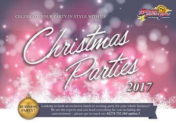 Christmas Parties 2017 Booklet