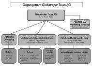 Organigramm Globetrotter Tours AG - Globotrek
