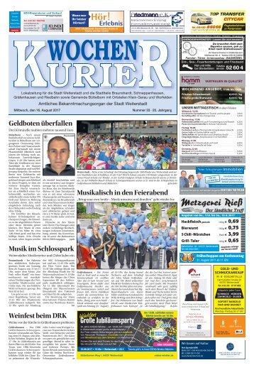 Wochen-Kurier 33/2017 - Lokalzeitung für Weiterstadt und Büttelborn