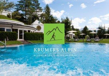 Bistrokarte Krumers Alpin Resort