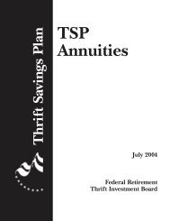 TSP Annuity vs Monthly Payments