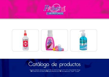 catalogo de productos 2017 prims