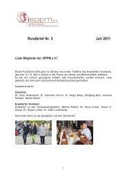 Rundbrief Nr. 3 Juli 2011 - isppm