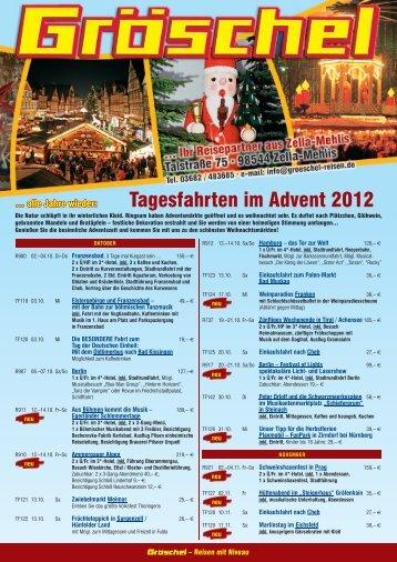 Tagesfahrten im Advent 2012