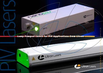 Lamp Pumped Lasers for PIV Applications from Litron - Photon Lines