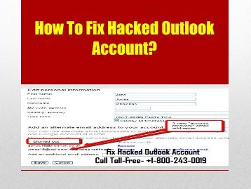How To Fix Hacked Outlook Account
