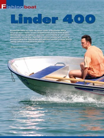 Fishing boat Linder 400