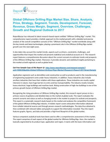 Offshore Drilling Rigs Market  Analysis- Regional Outlook, Segments And Forecast To 2017