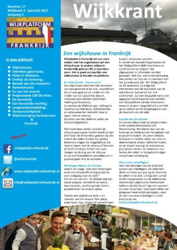 Frankrijk wijkkrant juni/juli 2017