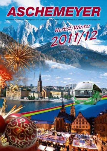 Weihnachtsreisen 2011 - Reisedienst Aschemeyer