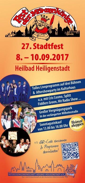 Stadtfest Heilbad Heiligenstadt Programmheft