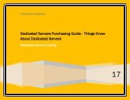 Dedicated Servers Purchasing Guide - Things Know About Dedicated Servers
