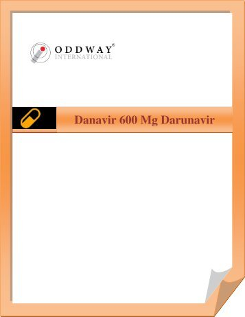 Danavir 600 mg Darunavir Tablets At Wholesale Price |  Generic Darunavir 600mg Tablets