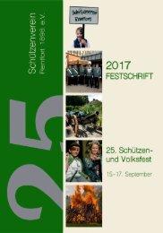 Festschrift 2017 Schützenverein Rentfort 1898 e.V.
