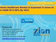 Global Home Healthcare Market, 2015 – 2021
