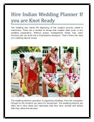 Hire Indian Wedding Planner If you are Knot Ready
