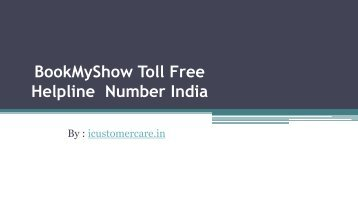 BookMyShow Toll Free Helpline  Number India