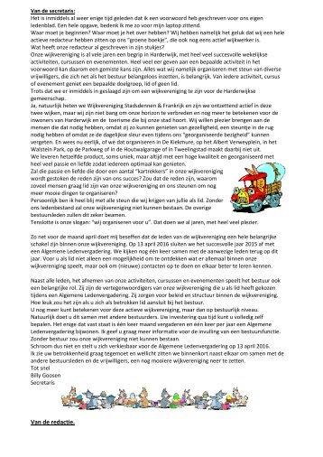 Wijkblad maart 2016