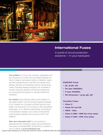 Ferraz Shawmut International Fuses - Steven Engineering