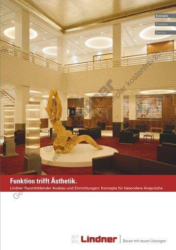 Broschüre Lindner Raumbildender Ausbau und - Lindner Group