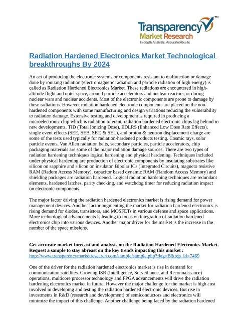 Radiation Hardened Electronics Market