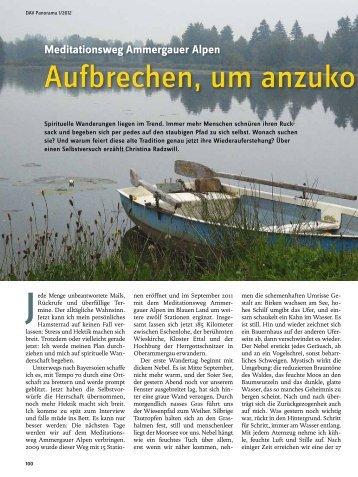 Meditationsweg Ammergauer Alpen - Deutscher Alpenverein