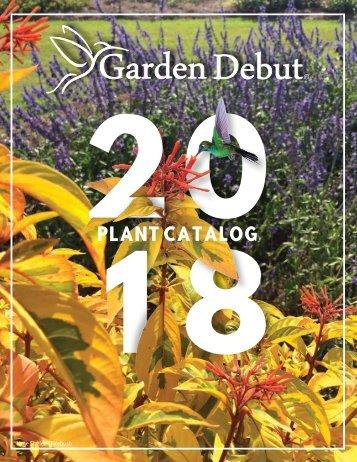 2018 Garden Debut Catalog