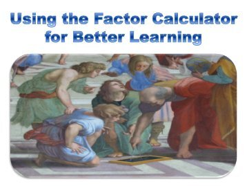 Using the Factor Calculator for Better Learning