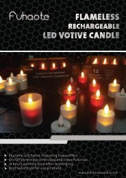 Fuhaote Rechargeable Flameless LED Votive Candle Catalogue