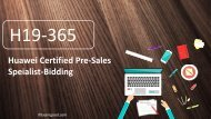 Latest Valid Version H19-365 Huawei HCS-Pre-sales-Bidding real dumps questions