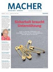 MACHER - Menschen & Märkte - Ausgabe 8, August 2017