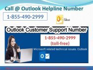 Outlook Customer Care Number 1-855-490-2999 help For Create new Outlook account