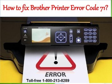 How to fix  Brother Printer  Error Code 71