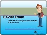 RealExamDumps EX200 Exam Real Dumps - EX200 Exam Dumps PDF Questions