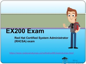 RealExamDumps EX200 Exam Real Dumps - EX200 Exam Dumps PDF Questions