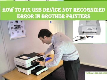 How To Fix USB Device Not Recognized Error in Brother Printers