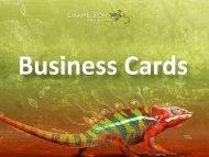 Business Cards - Chameleon Print Group