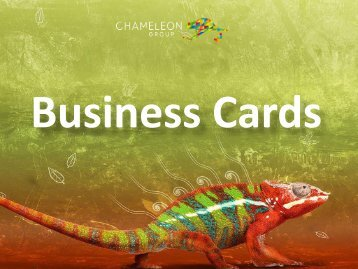 Business Cards - Chameleon Print Group