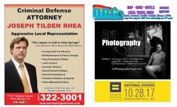 Gay Palm Springs California, This Week, Aug 16 - Aug 22, 2017
