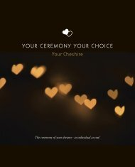 Cheshire East Weddings Brochure