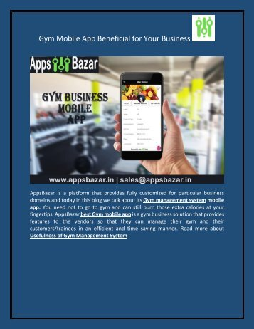 Gym Mobile App Beneficial for Your Business