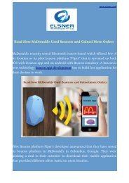 Read How McDonald's Used Beacons and Gained More Orders