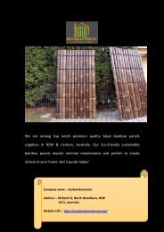 Black Bamboo Panels Suppliers in NSW, Australia