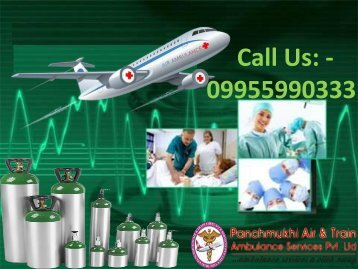 ICU Medical Emergency Air Ambulance Facility from Delhi to Mumbai