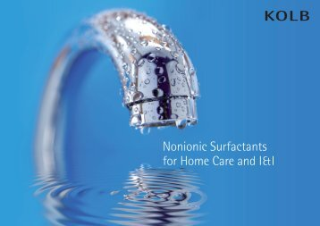Nonionic Surfactants for Home Care and I&I