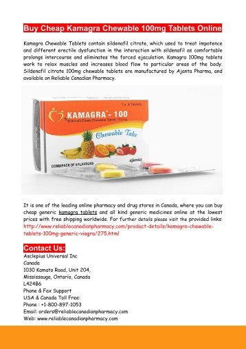 Buy Cheap Kamagra Chewable 100mg Tablets Online
