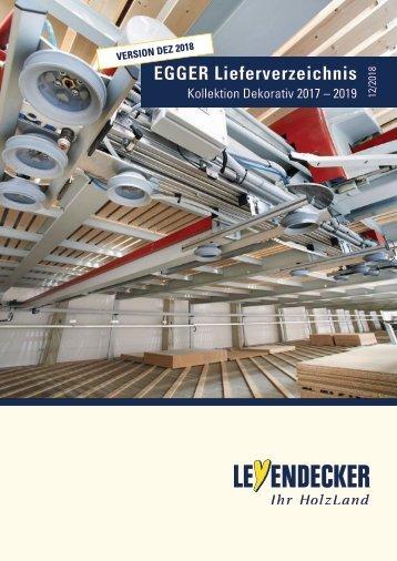 Leyendecker HolzLand - EGGER Lieferverzeichnis